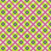 Checkered cotton fabric seamless pattern — ストックベクタ