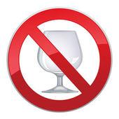 Alkol yok — Stok Vektör