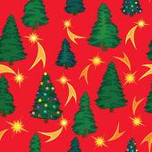 クリスマスと新年のグリーティング カード。シームレスなベクトルの背景。クリスマスのラッパー — ストックベクタ
