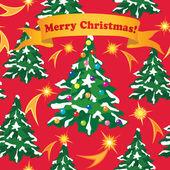 クリスマスと新年のグリーティング カード。シームレスなベクター background.christma s ラッパー — ストックベクタ