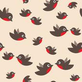 Robin seamless pattern — Stock Vector