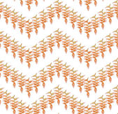 Autumn seamless pattern with leaves on white background. — Stock Vector