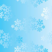 Snowflakes seamless pattern, christmas snow background. — Stock Vector