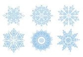 Snowflake Vector Template — Stock Vector