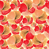 Abstract floral seamless pattern. flower vectors seamless background in 1970s style. — Stock Vector