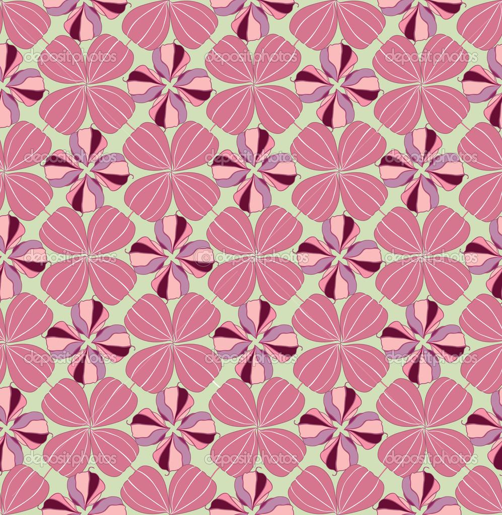 floral pattern seamless flower vector motif on pink. Black Bedroom Furniture Sets. Home Design Ideas