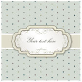 Vintage frame. Greeting Card with retro label on seamless background. — Stock Photo
