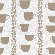 Coffee seamless background. Coffee cups seamless pattern. — Stock Vector