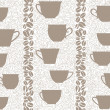 Coffee seamless background. Coffee cups seamless pattern. — Stock Vector #24489757