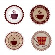 Coffee cups labels vector set. Coffee stamps collection. — Stock Vector