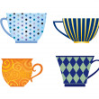 Cups of different shape vector set. — Stock Vector