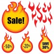 Sale label vector set. Hot price stickers - Stock Vector