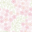 Flower seamless pattern. White floral seamless background. - Stock Vector