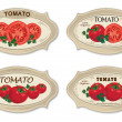 Royalty-Free Stock Vector Image: Tomato label. Vector set. Retro stickers.