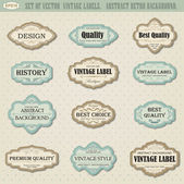 Set of vector vintage labels — Stock Vector