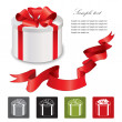 Present box isolated over white background - Stock Vector