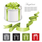 Present box isolated over white background — Stock Vector