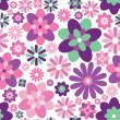 Abstract multicolor floral background - Stock Vector