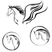 Vector illustration of horse head — Stock Vector