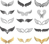 Wings. Elements for design. — Stock Vector