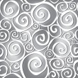 Abstract black and white wavy background in 1960s fabric style. — Stock Vector