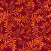 Autumn leaves seamless background. Floral vector pattern. — Stock Vector