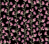 Flower seamless background. floral seamless pattern with lilac and pink sweet pea. — Stock Vector