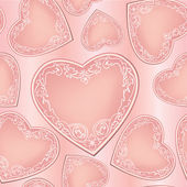 Love hearts Valentine Day Seamless Pattern. Abstract Pink Vector Background. — Stock Vector