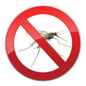 No Mosquitos Sign — Stock Vector