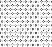 Abstract Geometric Retro Texture. Seamless pattern. Floral lightning ornament. Black and white flower background — Stock Vector