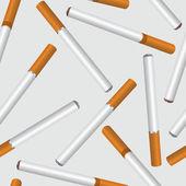 Fondo transparente humo de cigarrillo — Vector de stock