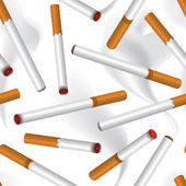 Cigarette smoke seamless background — Stock Vector