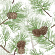 Pine tree branch seamless background — 图库照片