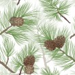 Pine tree branch seamless background — Stockfoto
