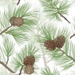 Pine tree branch seamless background — Stock Photo