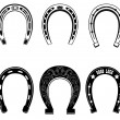 Horse shoe Set — Stock Vector