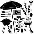 Barbecue icons vector set — Vettoriali Stock