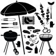 Barbecue icons vector set — Stock Vector