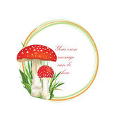 Mushrooms frame — Stock Vector