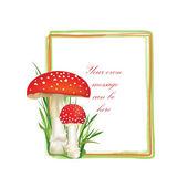 Mushrooms frame — Stock Vector