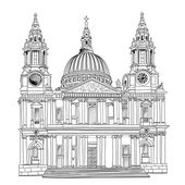 St. Paul Cathedral, London, UK — Stock Vector
