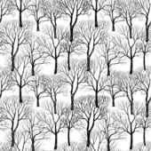 Forest in winter seamless pattern — Stock Vector
