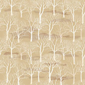 Tree without leaves seamless pattern — Stock Vector