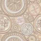 Abstract geometric kaleidoscope seamless background. — Vecteur