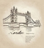 Bridge in the evening, London, England, UK, Europe. — Stock Vector
