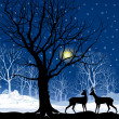 Winter landscape with deers — Stock Vector #37142013