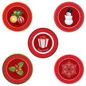 Christmas icon set — Stock Vector