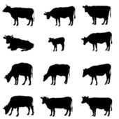 Cow silhouette — Stock Vector