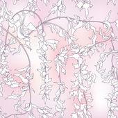 Floral fondo transparente. — Vector de stock