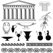 Greece icon set — Stock Vector